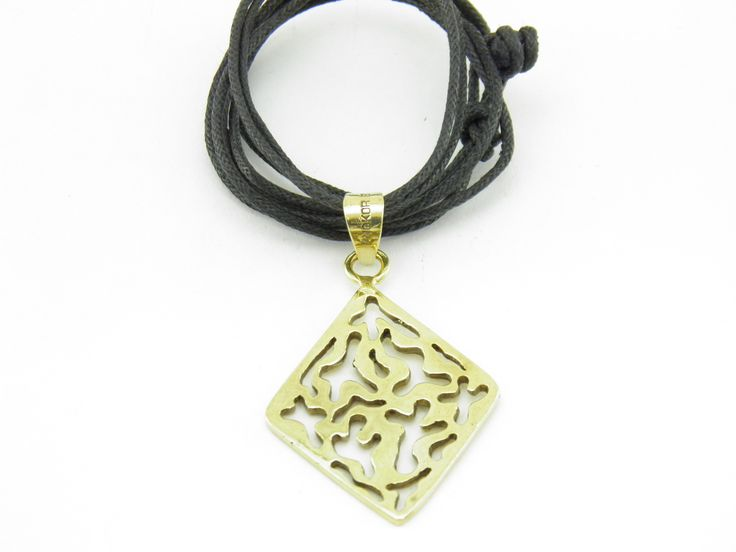 """""""Transforming violence into beauty and peace!"""" Square Water Drop Pendant recyled brass; very relaxing Pendant recycled brass molded from empty gun bullets."""