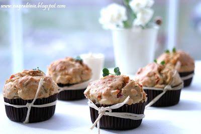 Na Grabinie: Muffiny na słono. Szybka kolacja bez wymysłów :)