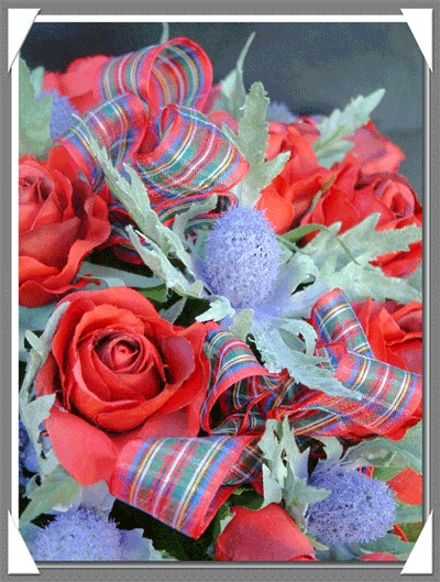 Scottish Wedding Flowers - Victorian Rose and Thistle!