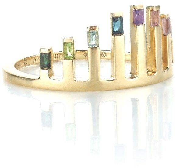 Ruifier Gold Celestial Sunrise Ring