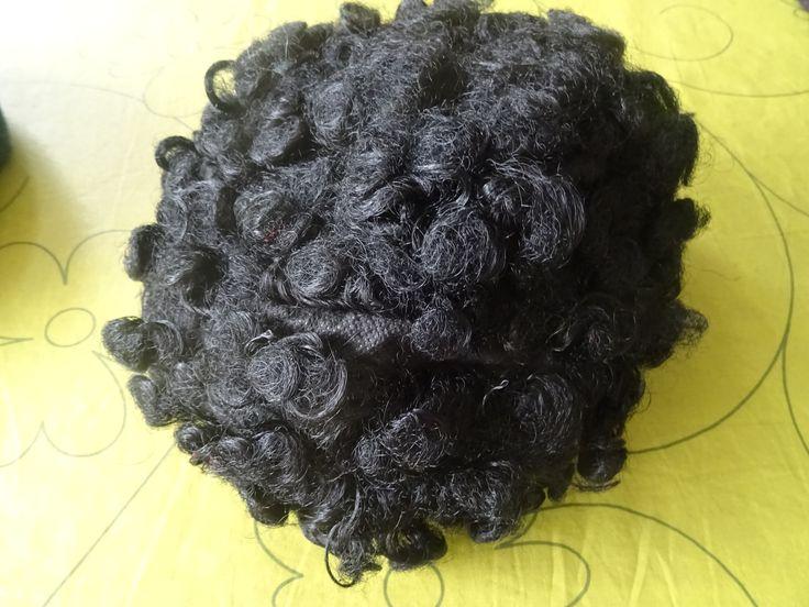 pruik zwart krullen
