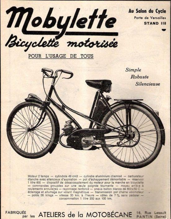 Mobylette-bicyclette-motorisée-Motobecane-Salon-du-Cycle-porte-de-Versailles-atelier-de-la-Motobecane-16-rue-Lesault-Pantin-Seine