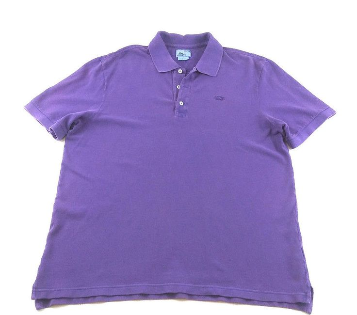 Lacoste Men's Purple Polo Shirt Short Sleeve SIZE L ? Free Shipping #Lacoste #PoloRugby