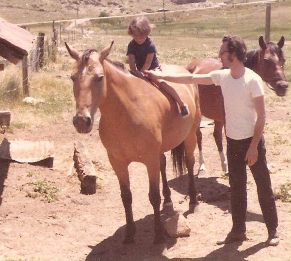 Dad and Me with our horse Brandy.