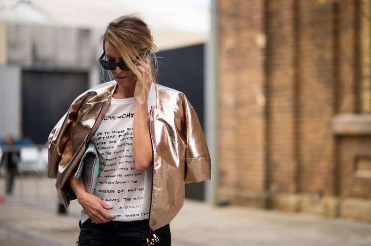 monday inspiration rose gold jacket streetstyle