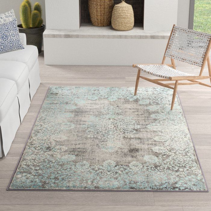 David Turquoise Blue Gray Beige Area Rug Blue Gray Area Rug Light Blue Area Rug Dark Gray Area Rug