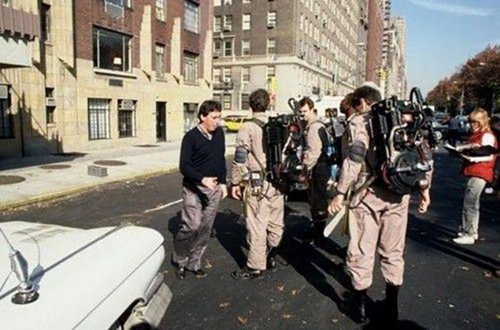 Ivan Reitman & the cast behind the scenes on #Ghostbusters (1984)