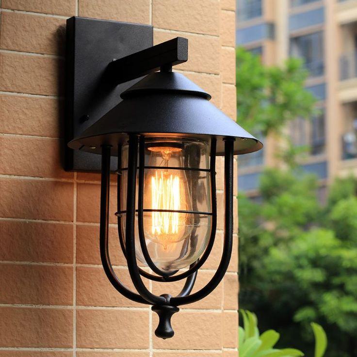 Крытый Открытый непромокаемые настенные светильники, сад крыльцо здания проход передней двери лестницы кафе warehuse гостиная ресторан огни бюстгальтер купить на AliExpress