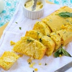 Corn Bread with Basil -- extremely aromatic.