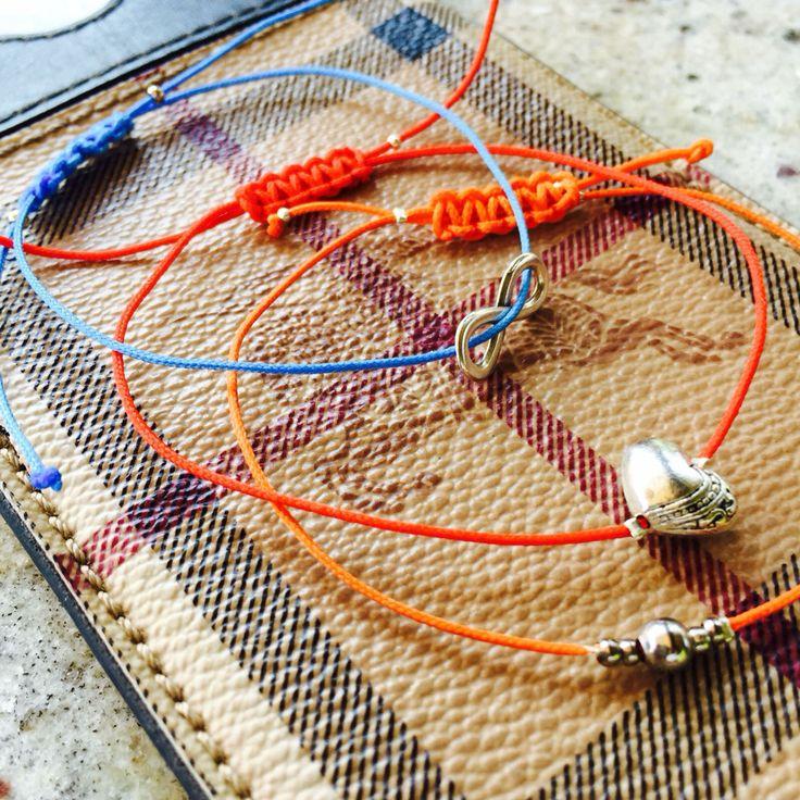 Colourful handmade bracelets by Anna Dery