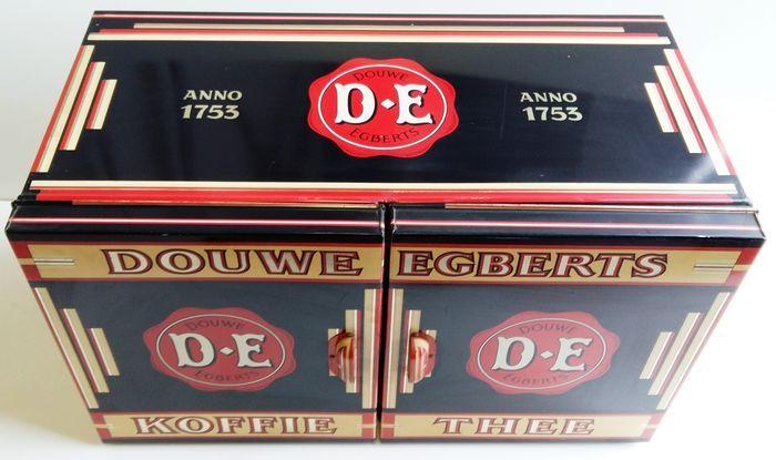 Combinatie koffie & thee winkelblik - XL - met dubbele deur - ca 1930 - in absolute topstaat.