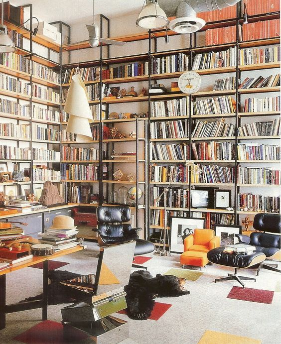 william+Waldron Gorgeous library! My dream room with the best lounge chairs!!!