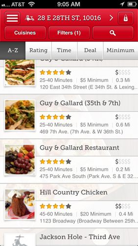 Seamless – Free Food Delivery  Takeout Free app lets you order takeout food for delivery or pickup without the hassle. You can select items from a menu, write notes about special requests, such as food allergies, and find new restaurants in your area—so long as you live in one of the cities that Seamless serves.