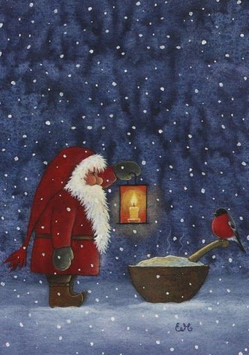 "Eva Melhuish -- this is some of the most endearing artwork I've ever seen. It made me want to cry! Haha www.evamelhuish.com (this pin does not link to her page, so I gave you the address!) ""/ A story of Santa Claus"""