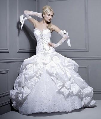 panina wedding dress = over the top decadence