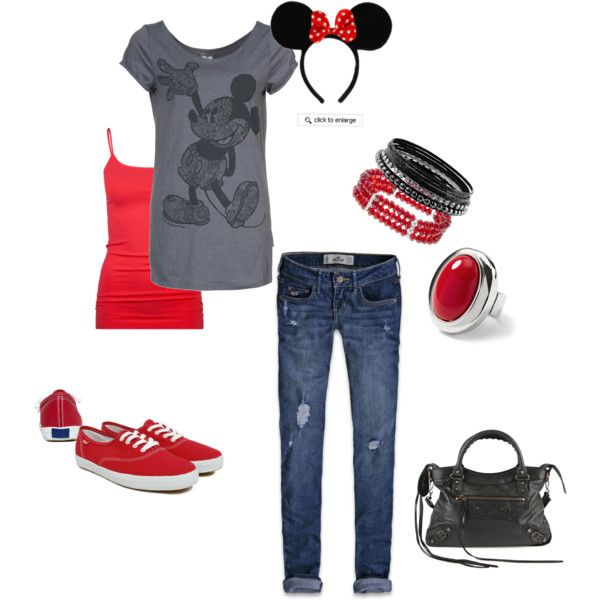totally excited about polyvore...this is for Cale's Mickey Party