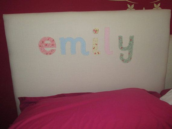 Personalised headboard by SRUpholstery on Etsy
