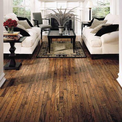 "Bruce Flooring Trumbull Strip 2-1/4"" Solid Oak Hardwood Flooring in Honey"