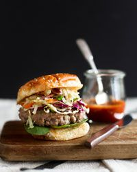Asian-Style Pork Burgers, these look good and very easy to make, but they don't add any soy or salt to the pork and I would think it would need that