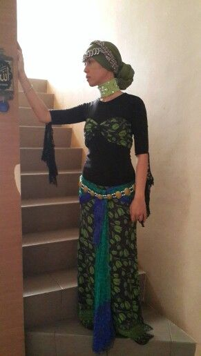 Tribal Fusion Costume idea for dancers who wear hijab. All pf it are my creation