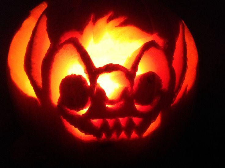 Stitch Pumpkin Halloween 2014 lit