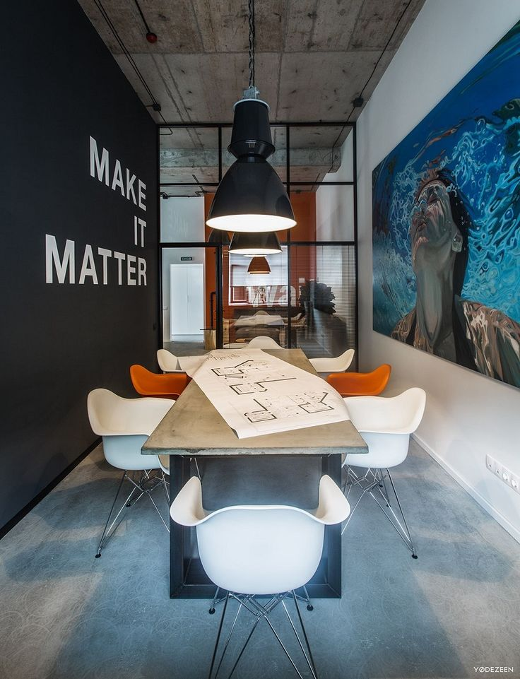 OFFICE 44 - renovated office of a modern construction firm. Designed by YØDEZEEN studio (Kiev, Ukraine).