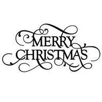 Silhouette Design Store - View Design #111586: flourish phrase - merry christmas