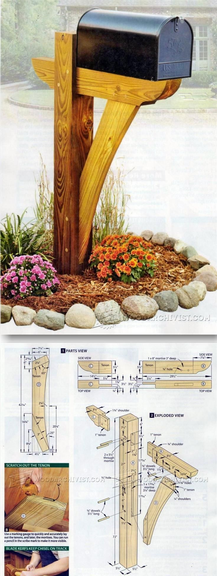 Make Mailbox Post - Outdoor Plans and Projects | http://WoodArchivist.com