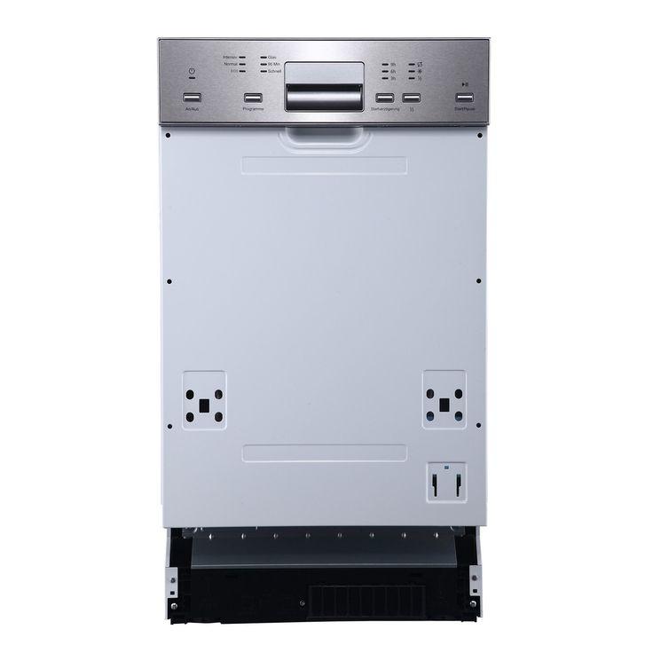 324.50 Bomann GSPE 881 teilintegrierbarer Einbau-Geschirrspüler, Energieklasse A+, Edelstahl, 45 cm, 9 Maßgedecke: Amazon.de: Elektro-Großgeräte