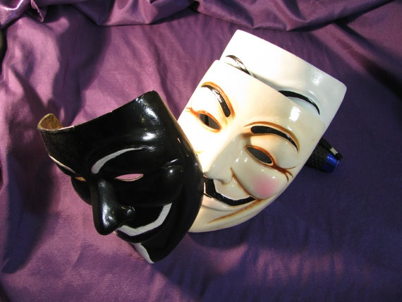 Black Fawkes (or Anonimus) mask $70.00