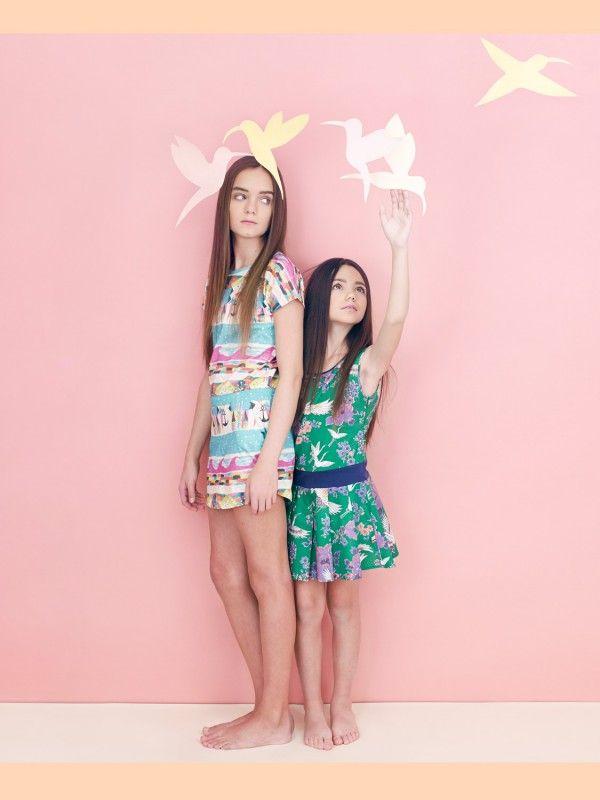 Island print dress by Munster Kids, Paradise print by La Miniatura, girls fashion summer 2014 from Babesta
