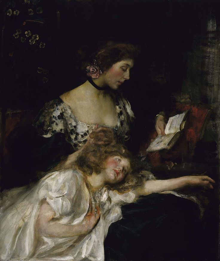 James Jebusa Shannon (1862-1923), Mother and Child (Lady Shannon and Kitty), ca. 1900-1910, oil on canvas | Smithsonian American Art Museum