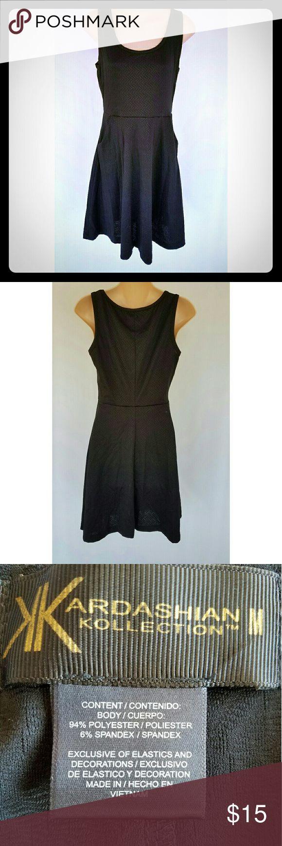 Kardashian Kollection Dress Black comfy Kardashian Kollection dress.  Armpit to armpit 16 in Shoulder to hem 33 in Kardashian Kollection Dresses