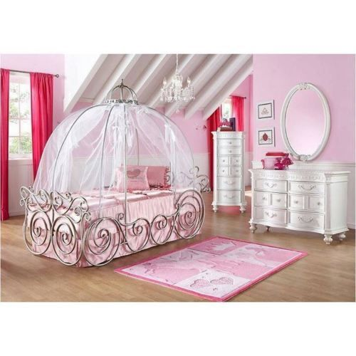 Canopies and Netting 48090: Disney Princess Carriage Bed Pink Canopy Sheer (Fabric Netting) -> BUY IT NOW ONLY: $53.9 on eBay!