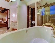 The master suite is delightfully private.  The bedroom, bath, and walk-in closet is in its own part of the house.  It has the feel that it is a world unto itself.  #Boise #Idaho, homes for sale, home builders