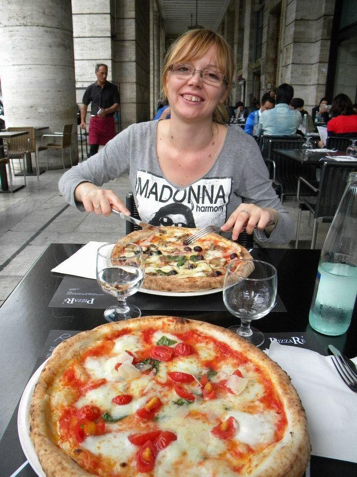 Italian pizza in Rome