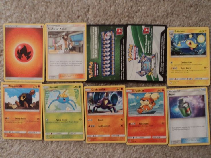 Lot of 10 Pokemon Trading Card Game Cards Sun & Moon with Unused Codes!