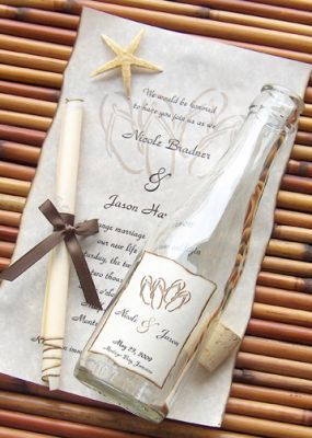 Beachcomber Message In A Bottle Invitation $9.97, perfect for a beach destination wedding.