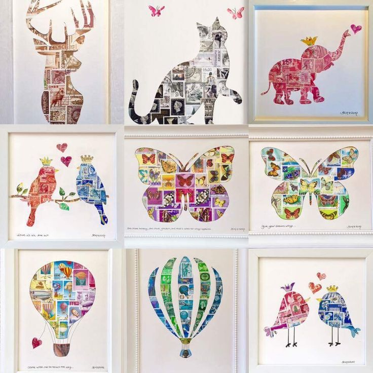 Postage stamps crafts and design