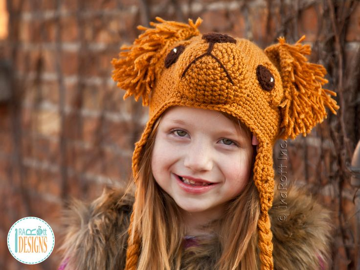 PDF Crochet Pattern for making an adorable Golden Retriever or Labrador Retriever Puppy Dog Hat by IraRott