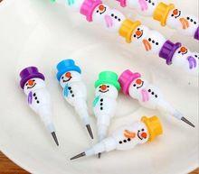 Envío gratis! 60 unid! el 5 sección la serie muñeco de nieve de lápiz / de la historieta creativa estudiantes lápices(China (Mainland))