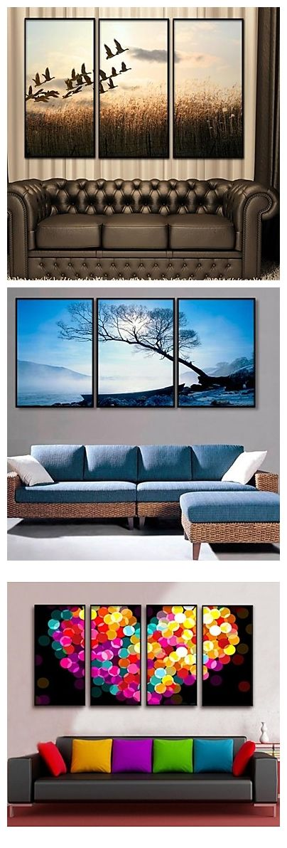 Framed canvas for your living room. I love the heart one so much!!!