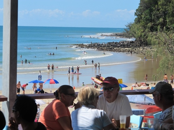 Noosa, Australia.  I ate at this surf club with my sister and fell in love with the place!