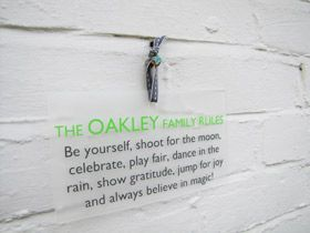 personalised gift wall plaque sign family rules - Another Gorgeous Day