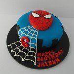 This Spiderman cake was handmade for a lovely little boy named Jaydon who just turned 6! Follow us on Twitter! https://twitter.com/bdaycakeshop Follow us on Facebook! https://www.facebook.com/profile.php?id=100010311549876 Spiderman Cake       Share List