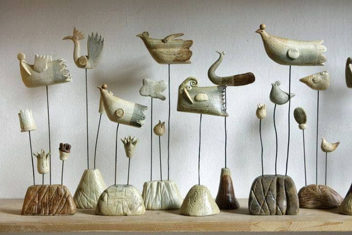 Simple Yet Elegant Clay Birds Bird Sculpture Clay Art