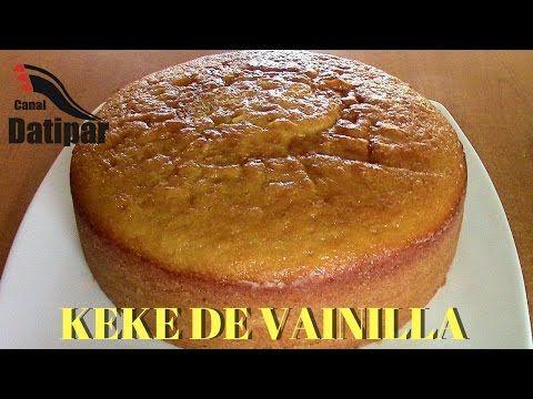 KEKE DE VAINILLA PARA MOLDE 26 - YouTube