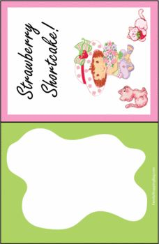 Strawberry Shortcake Invitations