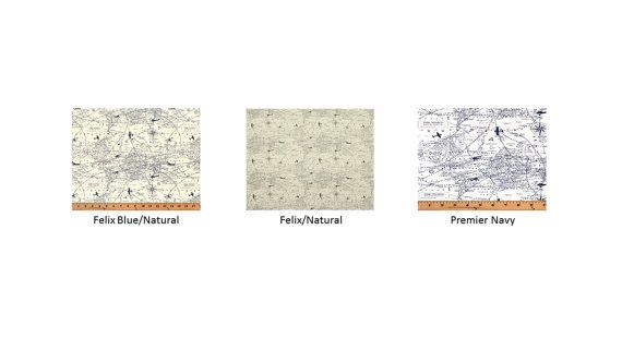 Maps and Planes  Table Runner  Premier Prints Air Traffic