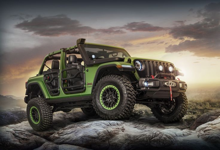 Mopar is offering a staggering array of parts and accessories for the new Jeep Wrangler, and it's showcasing them with two show trucks in LA.